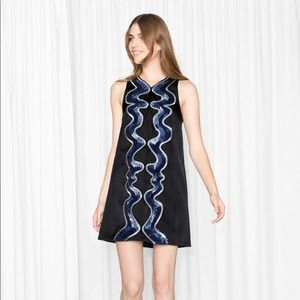 & Other Stories Squiggle Sequin Mini Dress